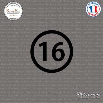 Sticker Département 16 Charente Angoulême Poitous Charentes
