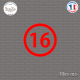 Sticker Département 16 Charente Angoulême Poitous Charentes Sticks-em.fr Couleurs au choix