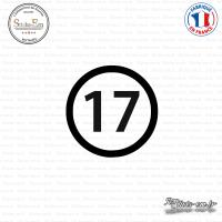 Sticker Département 17 Charente-Maritime La Rochelle Jonzac