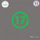 Sticker Département 17 Charente-Maritime La Rochelle Jonzac Sticks-em.fr Couleurs au choix