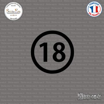 Sticker Département 18 Cher Bourges Centre-Val de Loire