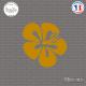 Sticker Flor Surf Sticks-em.fr Couleurs au choix