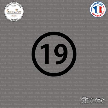 Sticker Département 19 Corrèze Tulle Limousin Ussel