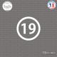 Sticker Département 19 Corrèze Tulle Limousin Ussel Sticks-em.fr Couleurs au choix