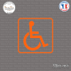 Sticker accès handicapé Sticks-em.fr Couleurs au choix