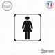 Sticker accès toilettes femmes