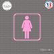 Sticker accès toilettes femmes Sticks-em.fr Couleurs au choix