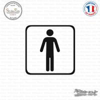 Sticker accès toilettes hommes Sticks-em.fr Couleurs au choix