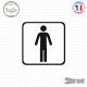 Sticker accès toilettes hommes