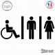 Sticker accès toilettes mixtes