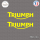 2 Stickers Logo Triumph Sticks-em.fr Couleurs au choix