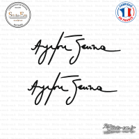 2 Stickers Signature Ayrton Senna