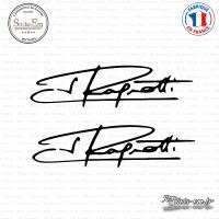 2 Stickers Signature Jean Ragnotti