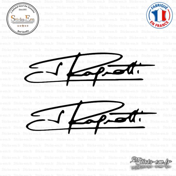 2 stickers signature jean ragnotti sticks em fr
