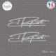 2 Stickers Signature Jean Ragnotti Sticks-em.fr Couleurs au choix