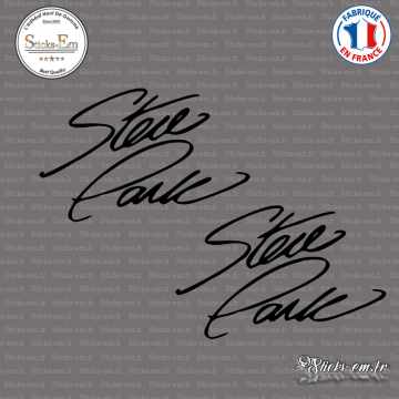 2 Stickers Signature Steve Park