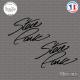 2 Stickers Signature Steve Park Sticks-em.fr Couleurs au choix