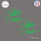 2 Stickers Signature Steve Park Sticks-em.fr Couleurs au choix