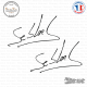 2 Stickers Signature Sebastien loeb