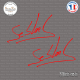 2 Stickers Signature Sebastien loeb Sticks-em.fr Couleurs au choix
