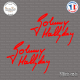 2 Stickers Signature Johnny Hallyday Sticks-em.fr Couleurs au choix