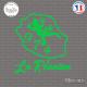 Sticker 974 La Réunion Sticks-em.fr Couleurs au choix