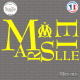 Sticker Marseille Om Sticks-em.fr Couleurs au choix