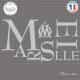 Sticker Marseille Om Sticks-em.fr Couleurs au choix