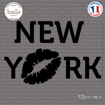 Sticker New-york avec Baiser