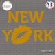 Sticker New-york avec Baiser Sticks-em.fr Couleurs au choix