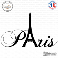 Sticker Paris tour Eiffel Sticks-em.fr Couleurs au choix