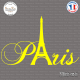 Sticker Paris tour Eiffel Sticks-em.fr Couleurs au choix