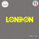 Sticker London Underground - Union Jack Sticks-em.fr Couleurs au choix