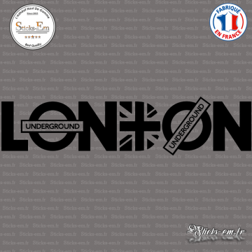 Sticker London Underground - Union Jack XXL