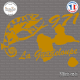 Sticker 971 guadeloupe cameleon Sticks-em.fr Couleurs au choix