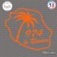 Sticker 974 La Reunion palmier Sticks-em.fr Couleurs au choix