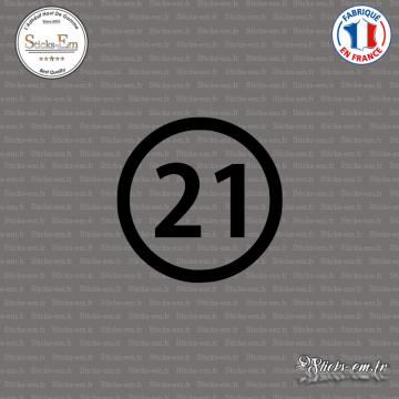 Sticker Département 21 Côte-d'Or Dijon Bourgogne Beaune