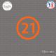 Sticker Département 21 Côte-d'Or Dijon Bourgogne Beaune Sticks-em.fr Couleurs au choix