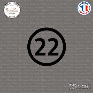 Sticker Département 22 Côtes-d'Armor Saint-Brieuc Dinan