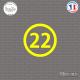 Sticker Département 22 Côtes-d'Armor Saint-Brieuc Dinan Sticks-em.fr Couleurs au choix