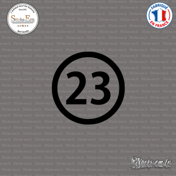 Sticker Département 23 Creuse Guéret Aubusson Limousin