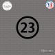 Sticker Département 23 Creuse Guéret Aubusson Limousin Sticks-em.fr Couleurs au choix