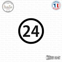 Sticker Département 24 Dordogne Périgueux Aquitaine