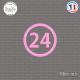 Sticker Département 24 Dordogne Périgueux Aquitaine Sticks-em.fr Couleurs au choix