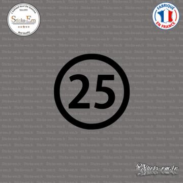 Sticker Département 25 Doubs Besançon Franche-Comté