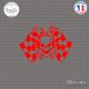Sticker Tête de Mort Damier Sticks-em.fr Couleurs au choix