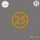 Sticker Département 25 Doubs Besançon Franche-Comté Sticks-em.fr Couleurs au choix