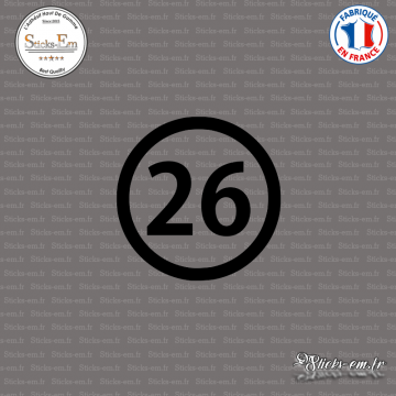 Sticker Département 26 Drôme Valence Rhône-Alpes Die