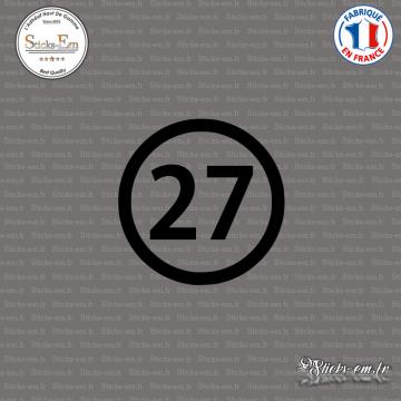 Sticker Département 27 Eure Évreux Haute-Normandie