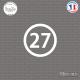 Sticker Département 27 Eure Évreux Haute-Normandie Sticks-em.fr Couleurs au choix